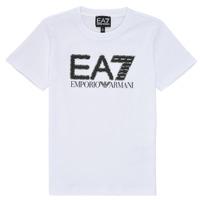 textil Dreng T-shirts m. korte ærmer Emporio Armani EA7 3KBT53-BJ02Z-1100 Hvid
