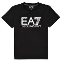 textil Dreng T-shirts m. korte ærmer Emporio Armani EA7 3KBT53-BJ02Z-1200 Sort