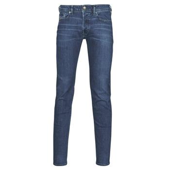 textil Herre Jeans - skinny Diesel SLEENKER Blå / Mørk