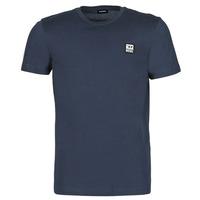 textil Herre T-shirts m. korte ærmer Diesel A00356-0AAXJ-81E Marineblå
