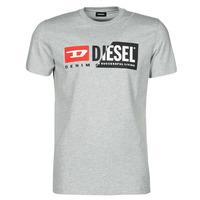 textil Herre T-shirts m. korte ærmer Diesel 00SDP1-0091A-912 Grå