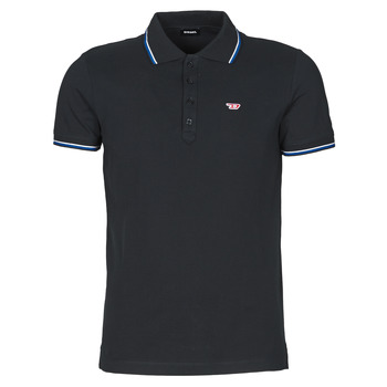 textil Herre Polo-t-shirts m. korte ærmer Diesel 00SW7C-0MXZA-900 Sort