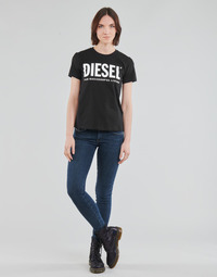 textil Dame Jeans - skinny Diesel SLANDY-LOW Blå / Medium
