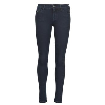 textil Dame Jeans - skinny Diesel SLANDY Blå / Mørk