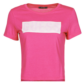 textil Dame T-shirts m. korte ærmer Guess SS CN ADRIA TEE Fuchsia