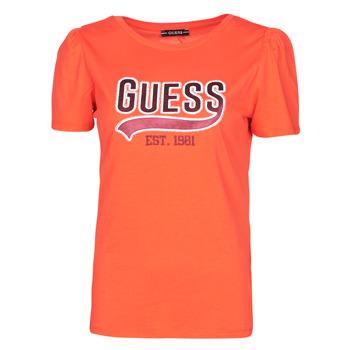 textil Dame T-shirts m. korte ærmer Guess SS CN MARISOL TEE Rød