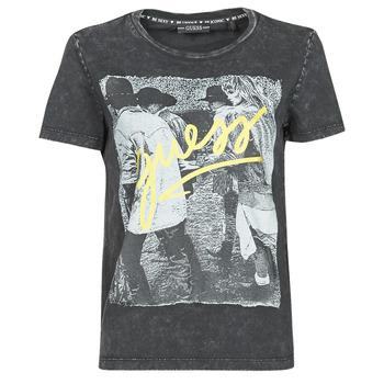 textil Dame T-shirts m. korte ærmer Guess SS CN PAULA TEE Sort