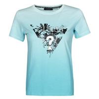 textil Dame T-shirts m. korte ærmer Guess SS CN PALMS TEE Blå