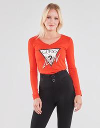 textil Dame Langærmede T-shirts Guess LS VN ICON TEE Rød