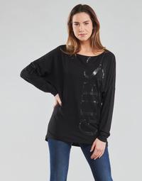 textil Dame Langærmede T-shirts Guess LS KAROLINA TEE Sort