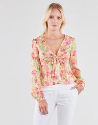 textil Dame Toppe / Bluser Guess NEW LS GWEN TOP Flerfarvet