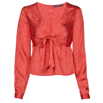 textil Dame Toppe / Bluser Guess NEW LS GWEN TOP Rød / Hvid