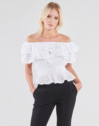 textil Dame Toppe / Bluser Guess SS NEW ISOTTA TOP Hvid