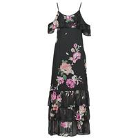 textil Dame Lange kjoler Guess AGATHE DRESS Sort / Flerfarvet