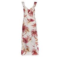 textil Dame Lange kjoler Guess CORA DRESS Flerfarvet / Hvid