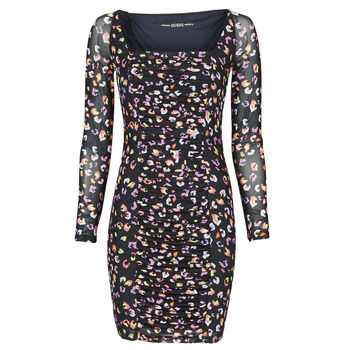 textil Dame Korte kjoler Guess GAYLE DRESS Sort / Leo