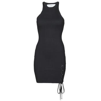 textil Dame Korte kjoler Guess ALEXA TIE DRESS Sort