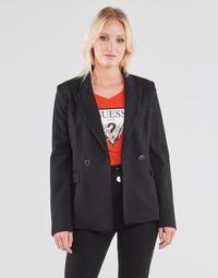 textil Dame Jakker / Blazere Guess MICAELA BLAZER Sort