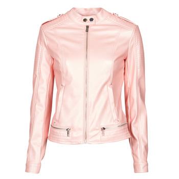 textil Dame Jakker i læder / imiteret læder Guess NEW TAMMY JACKET Pink