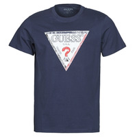 textil Herre T-shirts m. korte ærmer Guess TRIESLEY CN SS TEE Marineblå