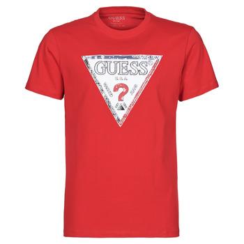 textil Herre T-shirts m. korte ærmer Guess TRIESLEY CN SS TEE Rød