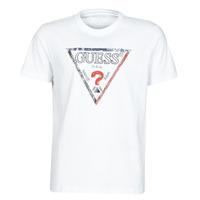 textil Herre T-shirts m. korte ærmer Guess TRIESLEY CN SS TEE Hvid