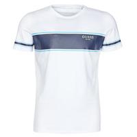 textil Herre T-shirts m. korte ærmer Guess CN SS TEE Hvid / Marineblå