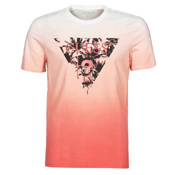 textil Herre T-shirts m. korte ærmer Guess PALM BEACH CN SS TEE Rød