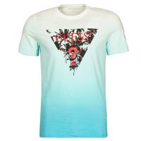 textil Herre T-shirts m. korte ærmer Guess PALM BEACH CN SS TEE Blå