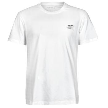 textil Herre T-shirts m. korte ærmer Guess ORGANIC BASIC CN SS TEE Hvid