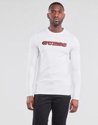 textil Herre Langærmede T-shirts Guess GUESS PROMO CN LS TEE Hvid