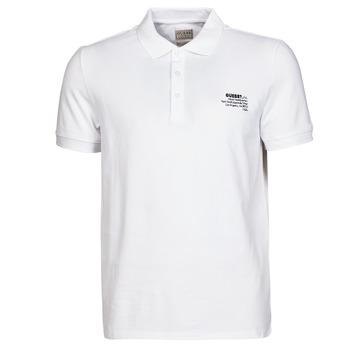 textil Herre Polo-t-shirts m. korte ærmer Guess OZ SS POLO Hvid