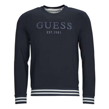 textil Herre Sweatshirts Guess BEAU CN FLEECE Sort