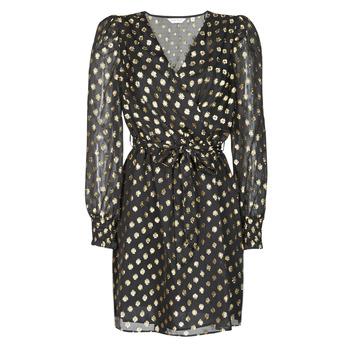 textil Dame Korte kjoler Naf Naf DOTSYTA Sort / Guld