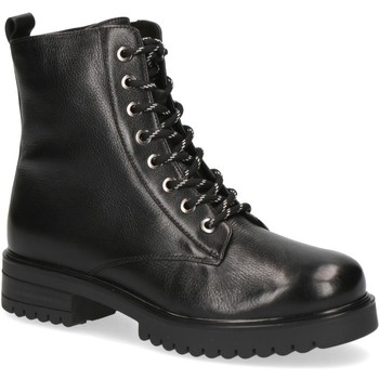 Sko Dame Høje støvletter Caprice Booties Low Heels Black Sort