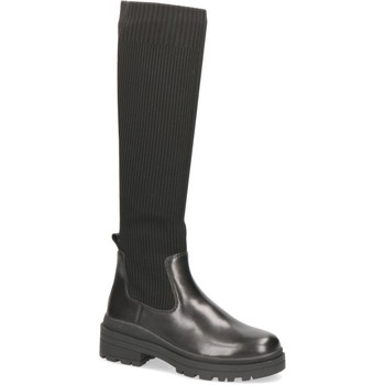 Sko Dame Chikke støvler Caprice Boots Low Heels Black Sort