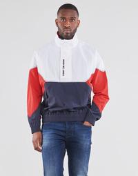 textil Herre Jakker Tommy Jeans TJM LIGHTWEIGHT POPOVER JACKET Hvid / Rød / Marineblå
