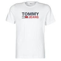 textil Herre T-shirts m. korte ærmer Tommy Jeans TJM CORP LOGO TEE Hvid