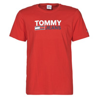 textil Herre T-shirts m. korte ærmer Tommy Jeans TJM CORP LOGO TEE Rød