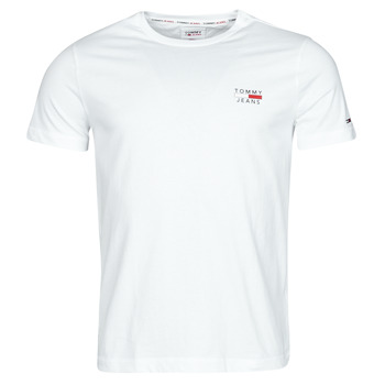 textil Herre T-shirts m. korte ærmer Tommy Jeans TJM CHEST LOGO TEE Hvid