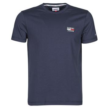 textil Herre T-shirts m. korte ærmer Tommy Jeans TJM CHEST LOGO TEE Marineblå