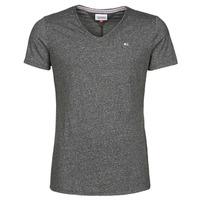 textil Herre T-shirts m. korte ærmer Tommy Jeans TJM SLIM JASPE V NECK Sort