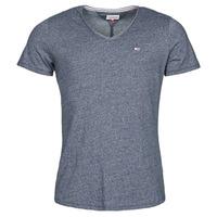 textil Herre T-shirts m. korte ærmer Tommy Jeans TJM SLIM JASPE V NECK Marineblå