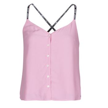 textil Dame Toppe / Bluser Tommy Jeans TJW CAMI TOP BUTTON THRU Pink