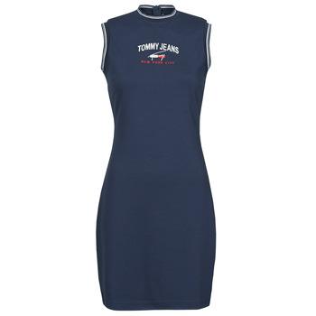 textil Dame Korte kjoler Tommy Jeans TJW TIMELESS SCRIPT DRESS Marineblå