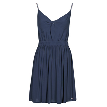 textil Dame Korte kjoler Tommy Jeans TJW ESSENTIAL STRAP DRESS Marineblå