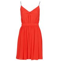 textil Dame Korte kjoler Tommy Jeans TJW ESSENTIAL STRAP DRESS Rød
