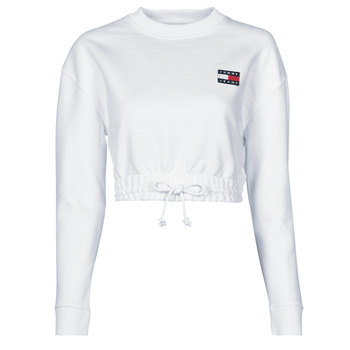 textil Dame Sweatshirts Tommy Jeans TJW SUPER CROPPED BADGE CREW Hvid