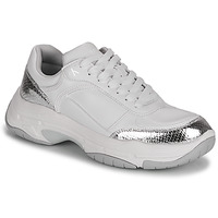 Sko Dame Lave sneakers Calvin Klein Jeans CHUNKY SOLE LACEUP PU-PYT PES Hvid / Sølv