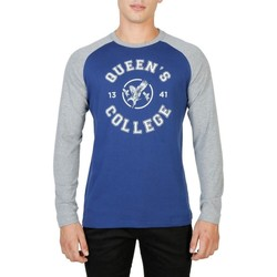 textil Herre Langærmede T-shirts Oxford University - QUEENS-RAGLAN-ML blue